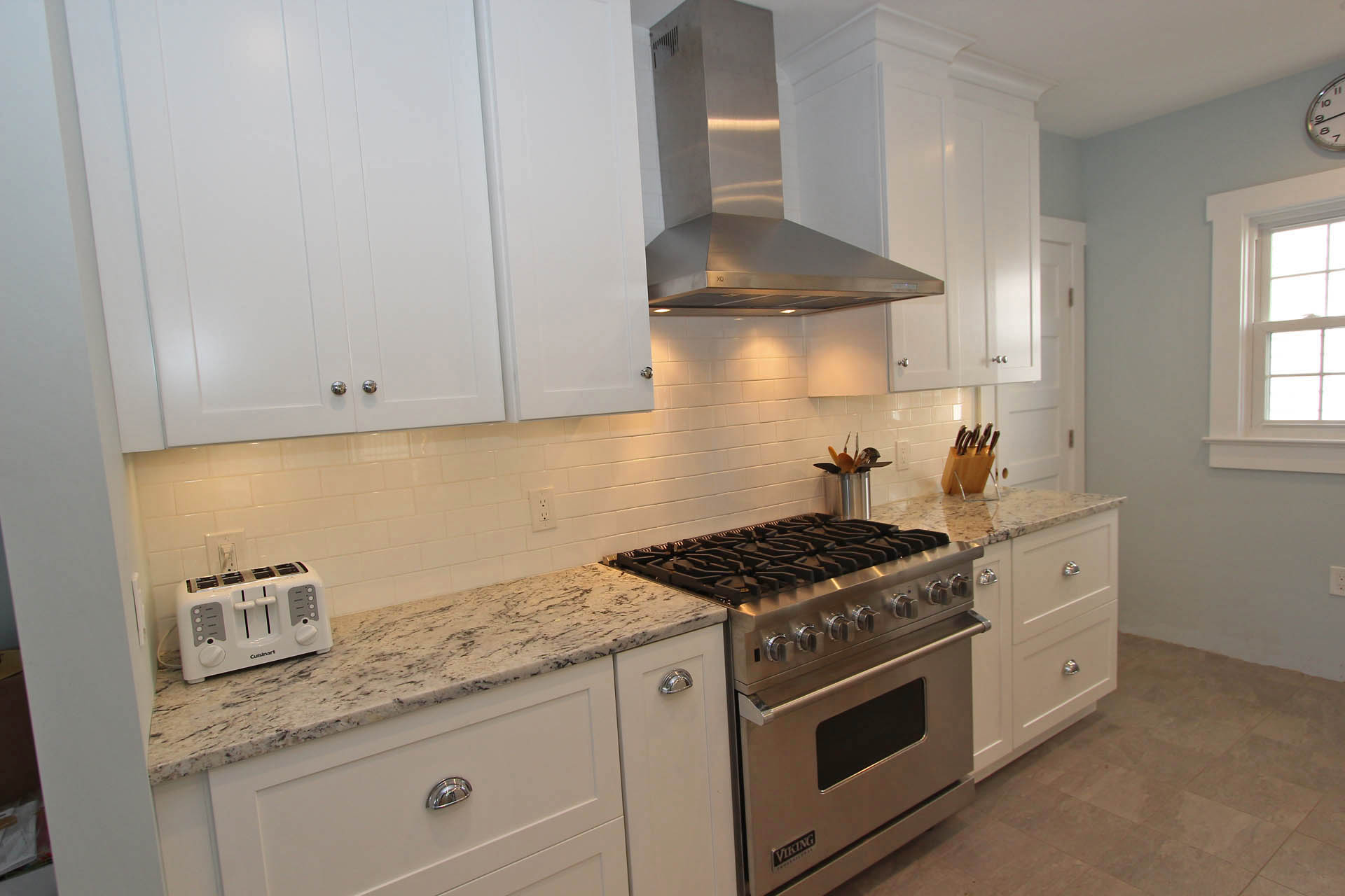 Bayhead beach house cabinets with crown molding