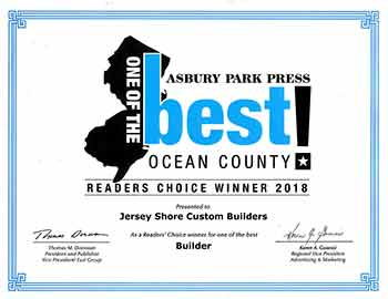Jersey Shore Custom Builders Voted One Of The Best Builders
