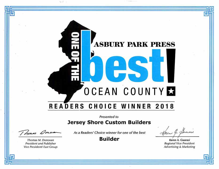 Voted one of the best builders